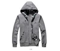 2014 New men's sport hooded jacket / Sportswear Zipper Coats / Hot brand & Free shipping