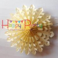 "Free Shipping 50pcs/Lot 10""(25cm) Snowflake Paper Fan Wholesale/Retai Tissue Paper Fan Crafts Party Wedding Home Decoration SPF4"
