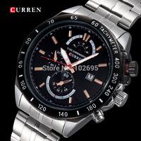 2014 Curren Quartz watch Men Sports Watches Men Military Wrist Watches Casual Full Steel Men Watch Waterproof Reloj Relojes