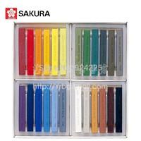 Hot !SAKURA cherry genuine original figure series 24 color pastel colored chalk powder brush bar NCTP-24