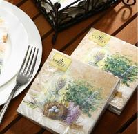 [4 packs] 100% original pulp eco-friendly wedding paper napkins printed handkerchief paper napkin cocktail napkins -4NC4058