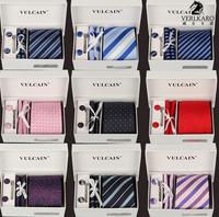 Hot,(16 Colors)  gift box 100% Silk ties Men's Ties Necktie Plaid Stripe Mens Tie Neckties Wholesale 6pcs/set,F461