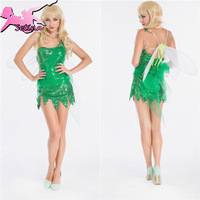 costume Charming Green Dragonfly Role-playing dress halloween costumes for women Fantasia Fairy Christmas cosplay XDW013
