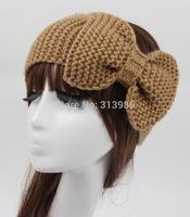 Retail BIG size  turban headband hair bow winter ear warmers crochet headband for hair headbands for women hair accessories