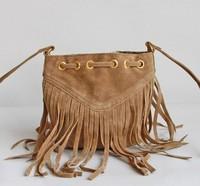 New 2014 Vintage handbag Fringe bag handbags designers brand High quality PU Women messenger handbag women handbag fringe toes
