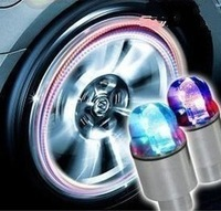 wholesale&retail  led flashing car light cool wheel lamp colorful tire lighting free shipping