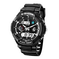 2014 New S Shock Fashion Watches Men Sports Watches alike Digital Analog Multifunctional Alarm Military Watch Relogio Masculino
