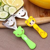 New Arrival 5pcs/lot Cartoon Plastic+Stainless Steel Vegetable Fruit Peeler/Zester Kitchen Tools Hot Sale BFCF-197F