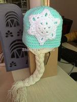 wholesale 5pcs/lot winter hair accessories  frozen hat baby boy winter hats crochet kids hat new born baby unisex hats