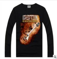 Rocksir men top brand Long Sleeves t shirt male Casual men 3d t shirt Rock Music Electric Guitar printed men t shirt brands