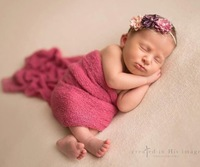 "16"" X 60"" Soft Knit Stretch Rayon Wrap Newborn Baby Photo Props Wrap 28 Colors Stock"