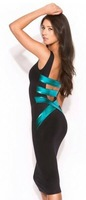 New fashion stylish elegant dresses women bodycon bandage dress club party dresses 2 colors
