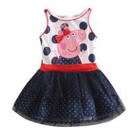 peppa dress christmas tutu birthday dress vestido peppa pig girls party dress nova kids brand one piece retial 100% cotton