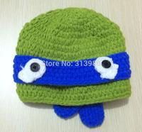 Retail baby hat baby winter hat crochet hat new born kids hat Teenage Mutant Ninja Turtles