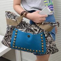 New Women Bag Vintage Women Handbag Canvas Women Messenger Bags With Rivet Decoration HB-227