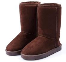 2014 invierno caliente de alta largas botas de nieve, cálido interior de piel zapatos de mujer invierno femenina, botas, tamaño 36-41, envío gratis 314(China (Mainland))