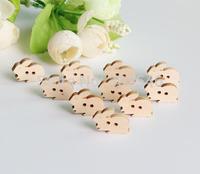 lovely little rabbit wood button  cartoon wood button,14mm*18mm ,50pcs/lot