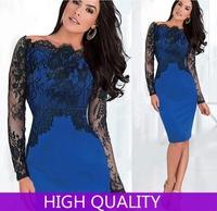Autumn Winter Vestido 2015 Women Crochet Lace Dress Clubwear vestido de festa Dresses Casual Women Fall Sexy Bodycon Vestidos
