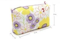 Free Shipping 2014 Fashion flowers cosmetic bag for women ladies fashion cosmetic case high capacity wash bag