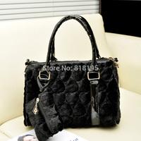2014 new arrival women bag single shoulder cross-body women's handbag fur plush bag free shipping