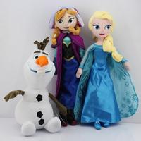 30cm olaf plush + 40CM Princess Elsa plush Anna Plush Doll Toy Brinquedos Kids Free shipping 3pcs/lot