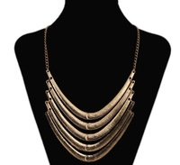 Europe and the United States retro exaggerated Necklace multi-level metal collar clothing accessories pendant chain of clavicle