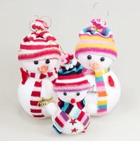 3 pcs/set S/M/L Christmas Tree Decoration Toys Snowmen Doll Ornament Christmas Decoration Supplies