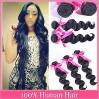 brazilian virgin hair water wave 4pcs lot natural color grade 5A hair brazillian virgin hair weave wet and wavy brazilian hair