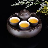 Purple kung fu tea set travel tea set portable simple small tea