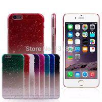 10pcs/lot Fashion Stylish Gradients Ultra-thin Transparent 3D Water Drop Soft TPU Rain Drop Case for iPhone 6 4.7 inch