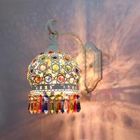 Fashion wall lamp bed-lighting led crystal wall lamp living room lights aisle lights mirror light wall lamp iron lamps