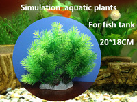Simulation water plants plastic  for fake gold fish tank 20*18CM