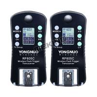 Yongnuo RF605C Flash speedlite Trigger shutter Release wireless Transceiver with LCD for Canon 6D 7D 50D 40D 30D 20D 60D 700D