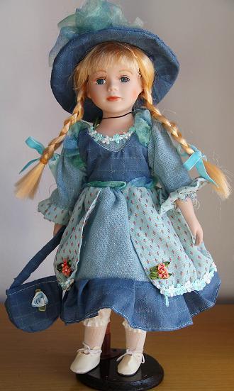 Hot 2014 nova Design16IN / 40 CM porcelana Baby Dolls para meninas cerâmica bebê menina boneca princesa presente de natal decoração coleção(China (Mainland))