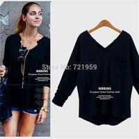 New  Fashion Plus Size Women Brand Shirt Bat Long Sleeve Crochet Blouse Hollow Out Loose Ladies Summer Tops  plus size XL-XXXXXL