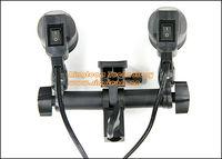 Dual Head Twins Bulb Holder Umbrella Bracket Double E27 Light Socket Adapter Photo Studio Accessories