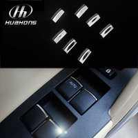 Car Windows lift switch sticker door button interior chrome trim cover decoration accessories,suitable for Toyota Corolla 2014