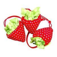 New Fashion 39*39cm Cute Shopping Bags/Brand Cartoon Strawberry Shaped Shopping Bags Women/Cheap Special Purpose Bags