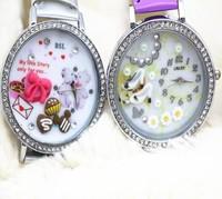 2014 Hottest women watches Polymer Clay Handmade Genuine Leather Quartz Korea Mini Watch