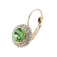 Women Gold/Silver Plated Jewelry Rhinestone Oval Stud Earrings 64147