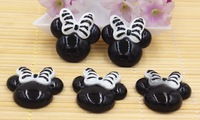 Free shipping 30pcs/lot flatback resin cabochons resin Mickey for kids phone accessaries