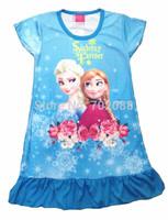 Retail sisters summer frozen dress girl dress for Elsa & Anna children's wear kids clothes 312