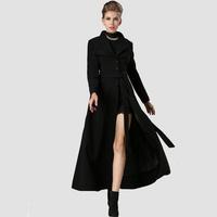 American Apparel 2014 Winter New Arrival Women Luxury Dovetail Long Wool Coat Slim Office Lady Woolen Party Work Overcoat