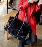 Autumn and winter fashion brief 2014 rabbit fur bag bags fur women's handbag big bag shoulder bag