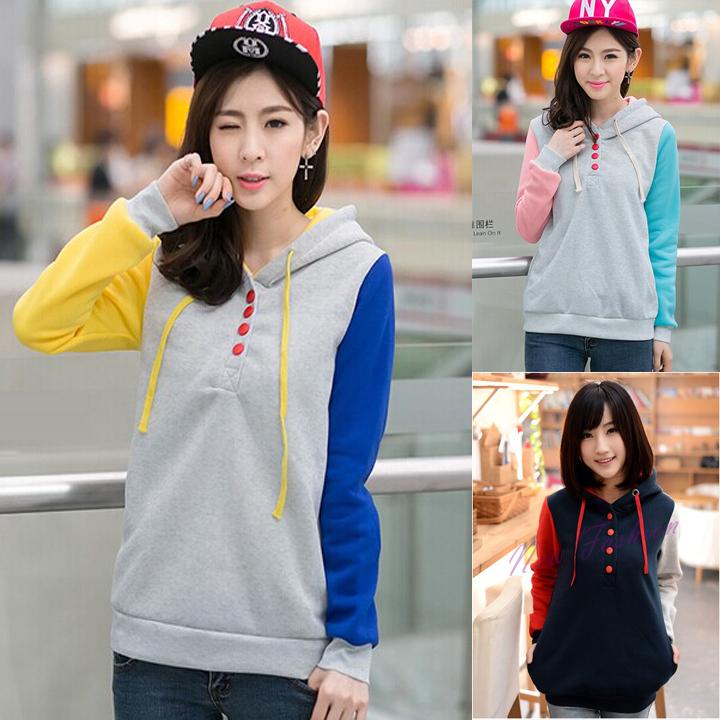 versandkostenfrei 2014 neue mode locker lässig vlies winter sweatshirt jacke frauen mit kapuze pullover hoodie plus size 3 farben