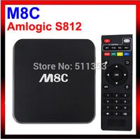 New M8C Android Smart TV Box Amlogic S812 Chip 4K UHD H.265 XBMC Gotham 13.2 Full HD Android 4.4 Kitkat Media Player M8 TV Box