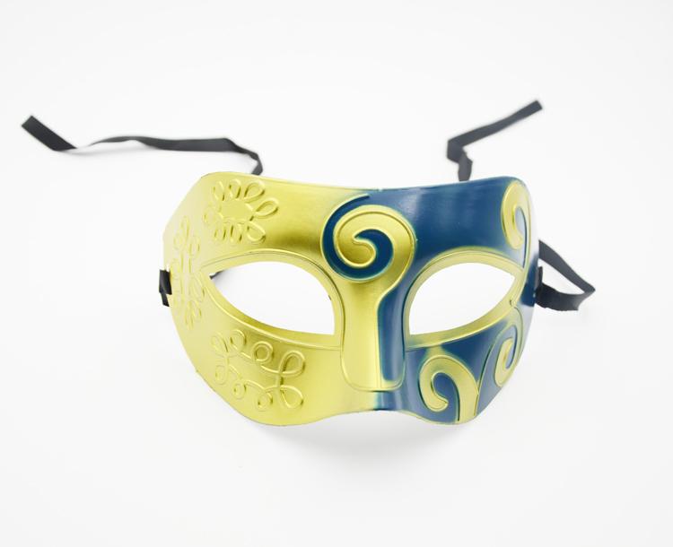 1pc Retro Greek Roman Mardi Gras Masquerade Costume Dance Party masks Gold& Blue(China (Mainland))