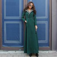 Top Grade 2014 Winter New Fashion Women X-Long Wool Blends Long Coat Ladies Turn-Down Collar Casual Outdoor Overcoat Female XXL