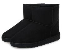 2014 Autumn and Winter New Flat Heel Suede Artificial Short Plush Cotton Fabric Rubber Women's Short Snow Boots