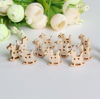 lovely little horse wood button  cartoon wood button,15mm*20mm,50pcs/lot